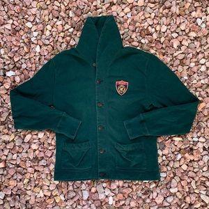Vtg 90s Polo Ralph Lauren Shield Crest Cardigan